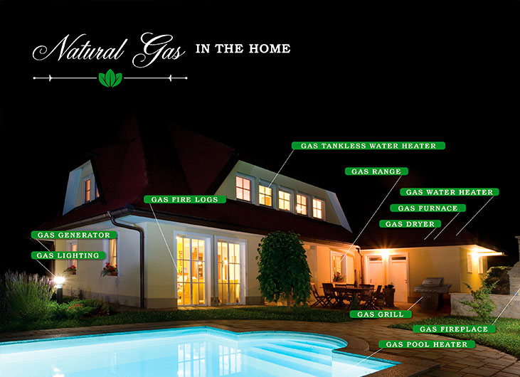 Natural gas in the home
